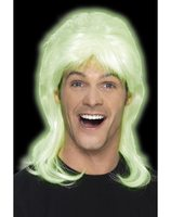 Glow in the dark mullet wig SM-44646