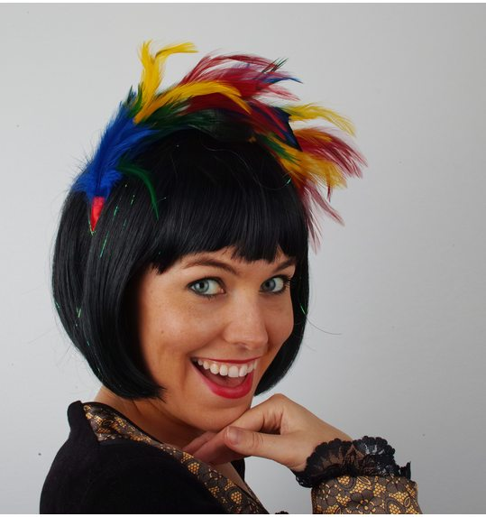 Hair piece Plume multicolor