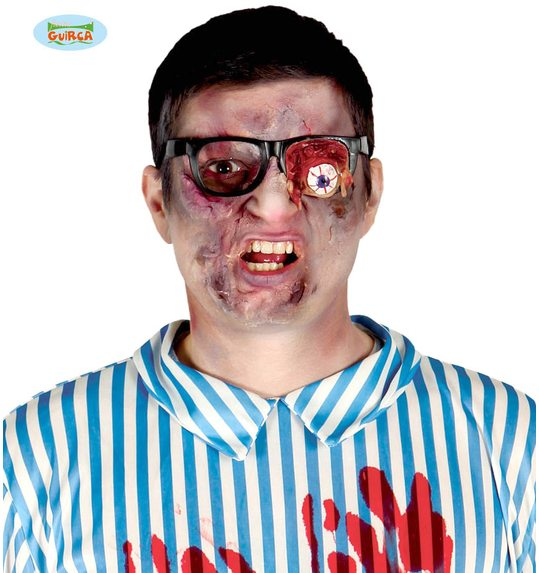 Halloween glasses with bulging eye