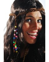 Hippie hair Ribbon with beads PWA3056