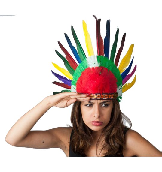 Indian feather headress