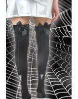 Knee stockings with spider web print PWA3206