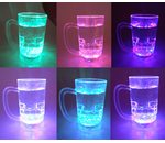 Luminous beer glass