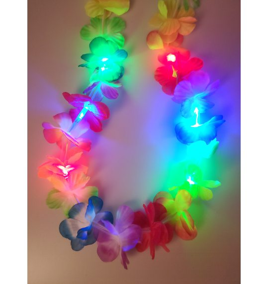 Luminous flower wreath