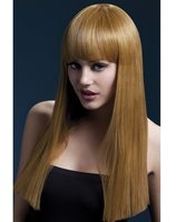 Luxurious wig long brown with fringe Alexia SM-42359