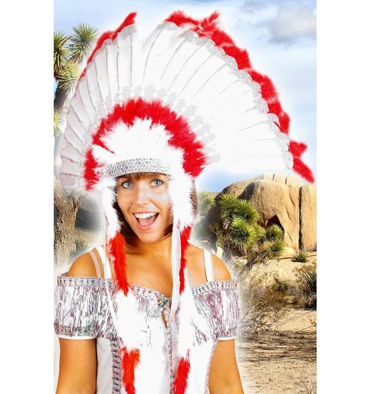 Luxury Indians headdress red
