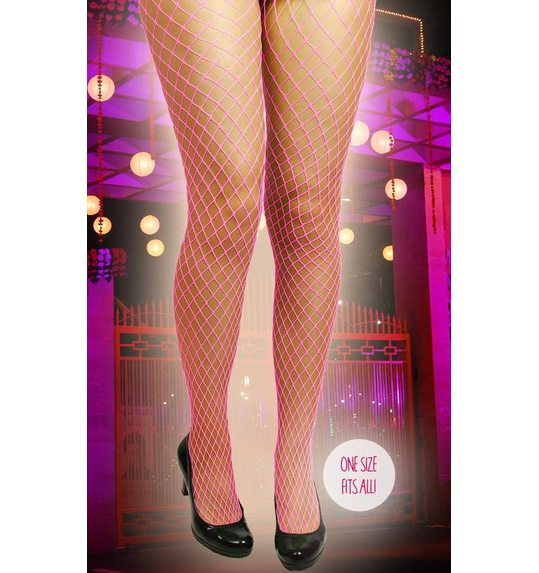 Net stockings bright pink