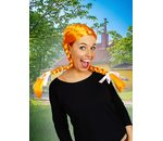 Orange wig with braids