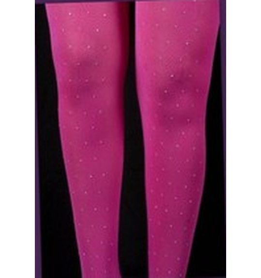 Pink stockings with rhinestones