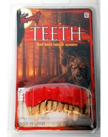 Plastic false teeth werewolf PWA3062WW