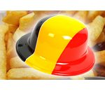Plastic hat in the Belgian colors