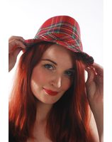 Punk hat with Scottish Tartan PWA3001