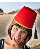 Red marrocan fez hat PWA2437RO