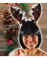 Reindeer headgear luxury with Christmas balls PWA3075