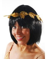 Roman laurel wreath headband gold with leafs PWA3013