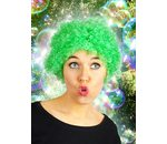 Short curly wig green