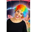 Short curly wig multicolor