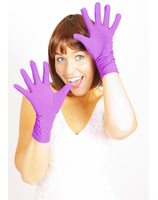Short purple gloves PWA3267