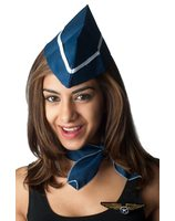 Stewardess set with hat, scarf and pin PWA2545