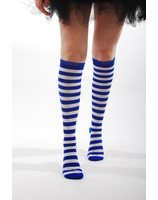 Striped stockings/socks red or blue PWA3022