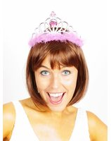Tiara with pink accents PWA0919ROZ