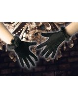 Velvet gloves black PWA0734Z