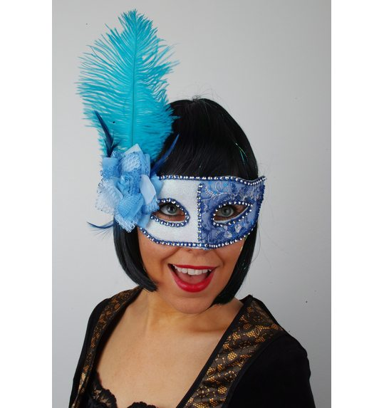 Venetian Mask Blue White