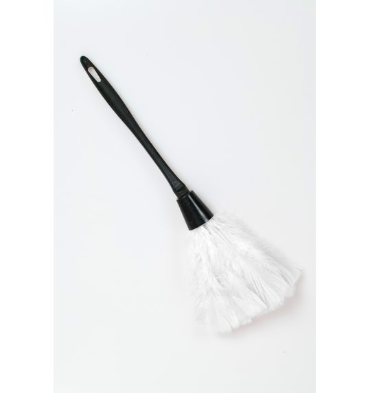 White feather duster