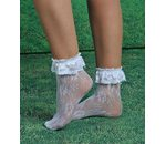 White short lace sock
