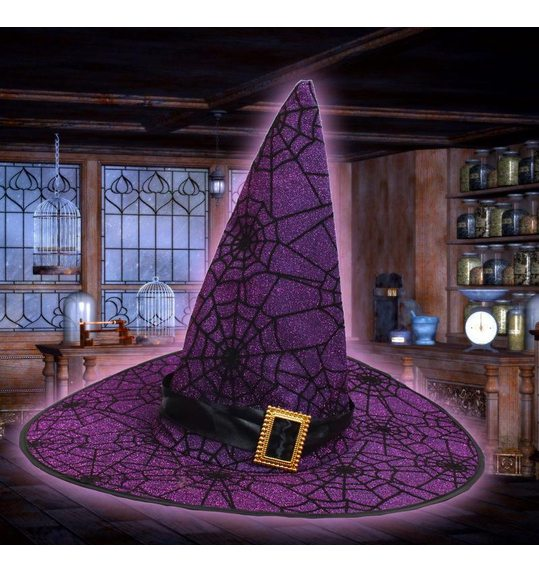 Witch hat deluxe glitter