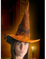 Witch hat with orange tulle PWA0157