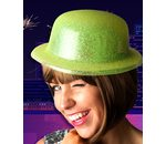 Yellow bowler hat glitter