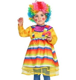 Baby clown girl costume