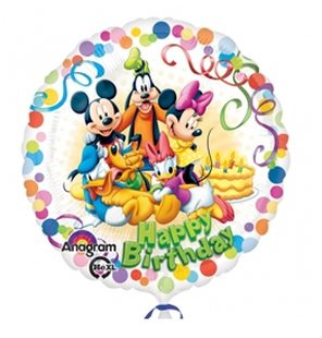 Ballon aluminium Happy birthday mickey mouse