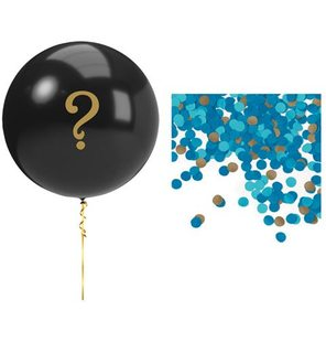 Ballonkit gender reveal blauw