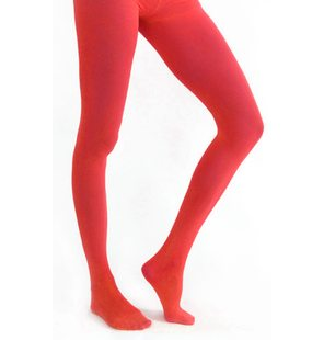 Bas extra-stretch rouge