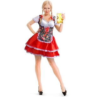 Bavarian dress red