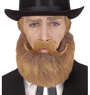 Beard and mustache Blonde