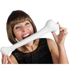 Big plastic caveman bone