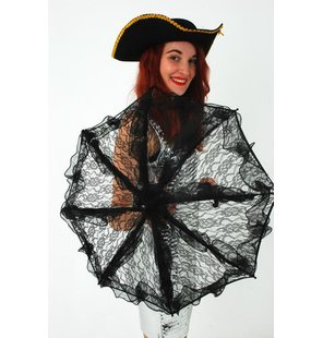 Black lace umbrella