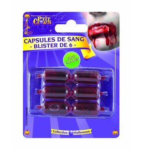 Blister with 6 blood capsules