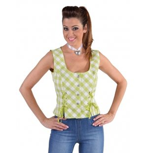 Bustier blouse Tyrol for ladies Lichtgroen