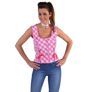 Bustier blouse Tyrol for ladies Roze
