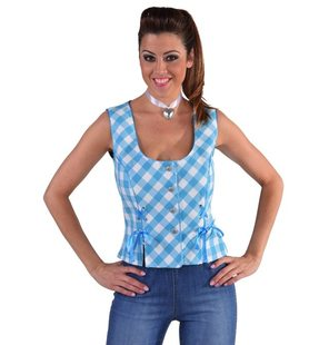 Bustier blouse Tyrol for ladies Turquoise