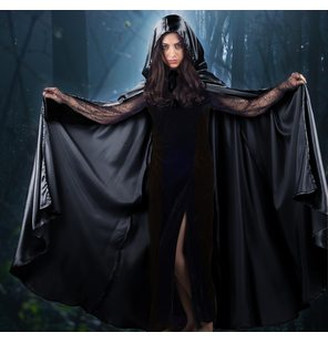 Cape satin black