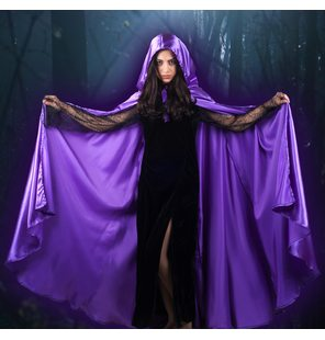 Cape satin purple