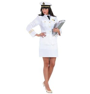 Captain Ladies costume with skirt
