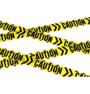 Caution afzet tape halloween decoratie