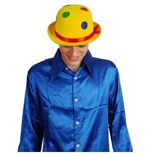 Chapeau clown DOTS feutre jaune