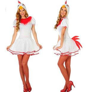 Chicken costume for ladies
